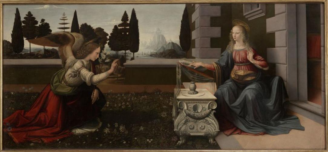 Saint Gabriel archange Vinci_annunciatie